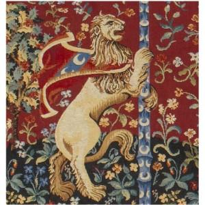 Le lion coussin la dame la licorne - La tapisserie de la dame a la licorne ...