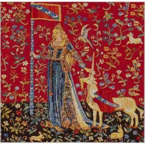 Le toucher coussin la dame la licorne - La tapisserie de la dame a la licorne ...
